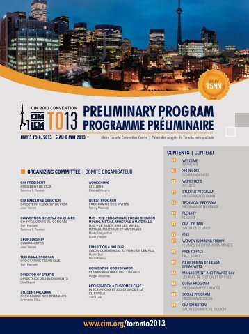 CIM Convention 2013 Preliminary Program available for download!