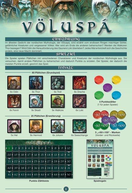 Einführung Spielziel Inhalt 1 - White Goblin Games