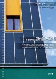 facade-integrated thermal solar installations - Haus der Zukunft