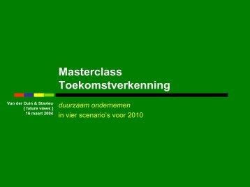 Masterclass T - Duurzaam Ondernemen