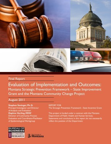Evaluation of Implementation and Outcomes: Montana Strategic ...