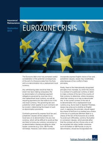 EUROZONE CRISIS - HFW