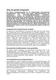 15 Jahre Bürgermeister Häupl - Integration