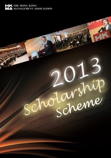 2013-27-8 Scholarship Scheme(6p)for pdf.p65 - Hong Kong ...