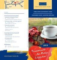 Info-Flyer Trauercafé 2013 zum Download - Hospiz Hamm