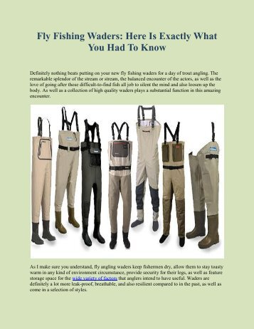 Fly Fishing Waders: Here Is Exactly What You Had To Know