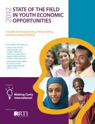 STATE OF THE FIELD IN YOUTH ECONOMIC OPPORTUNITIES
