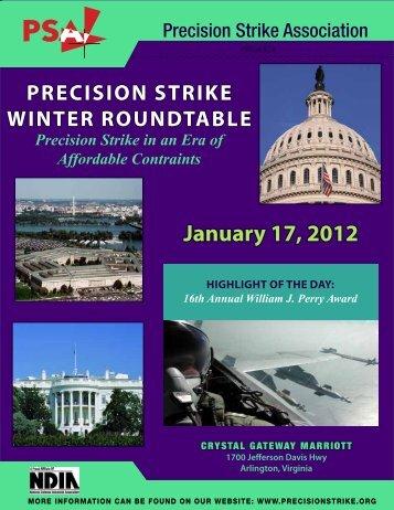 January 17, 2012 - Precision Strike Association