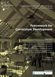 Framework for Curriculum Development - Educate Sustainability