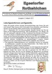 Egestorf und die Kommunalwahlen 2011 im Rotkehlchen - SPD ...