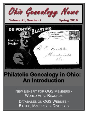 2010 Spring - Philatelic Genealogy