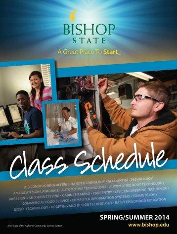 2014 Spring Class Schedule (PDF) - Bishop State Community College