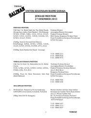 untuk kegunaan rasmi sahaja jemaah menteri 23 ogos 2013