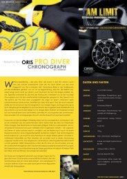 SEPTEmbER 2009 | ORIS PRO DIVER CHRONOGRAPH - Uhr-Werk