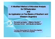 A Modified Method of Microbial Analysis for Oil ... - Larriestra