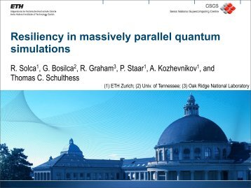Resiliency in massively parallel quantum simulations - MPI Forum ...