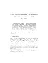 Efficient Algorithms for Finding Critical Subgraphs - gerad