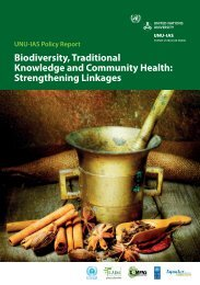 Biodiversity, Traditional Knowledge and Community Health