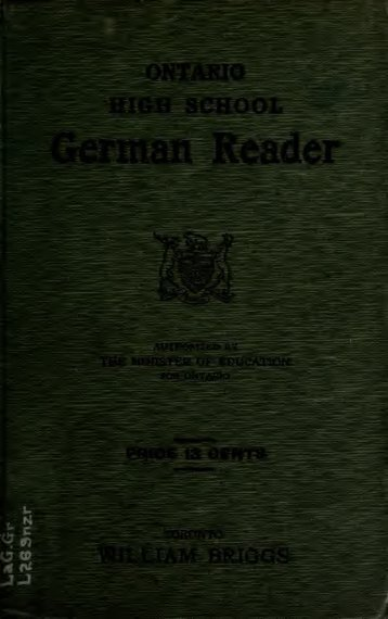 Ontario high school German reader - Scholars Portal