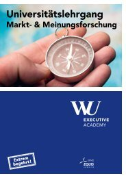 Universitätslehrgang - WU Executive Academy