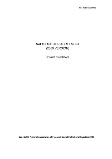 Managing counterparty risk master agreements and collateral nafmii master agreement 2009 version asifma platinumwayz