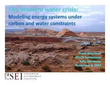 Frank Ackerman SEI-US Symposium US Symposium Tufts ...