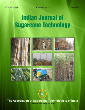 June, 2012 - Indian Institute of Sugarcane Research