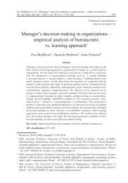 Manager's decision-making in organizations – empirical analysis of ...