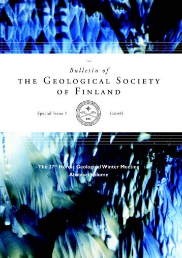 The 27th Nordic Geological Winter Meeting - Suomen Geologinen ...
