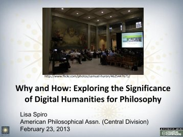 talk - Digital Scholarship in the Humanities