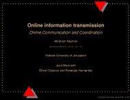 Online information transmission