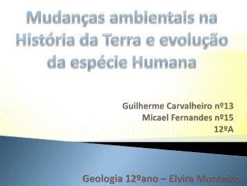Mudanças ambientais na História da Terra e evolução ... - Webnode