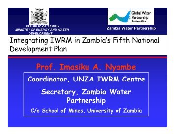 Nyambe, Integrating IWRM in Zambia's National Development