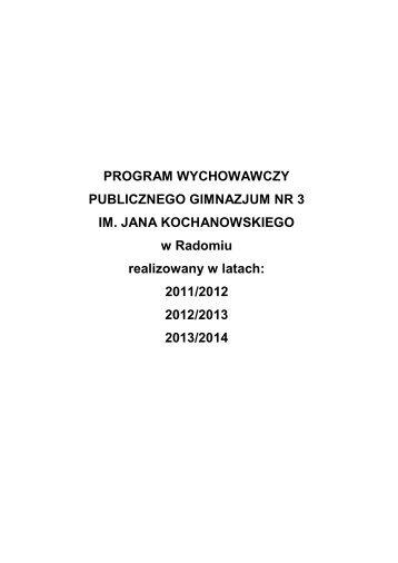 PROGRAM WYCHOWAWCZY - PG3 Radom