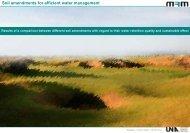 Soil amendments for efficient water management