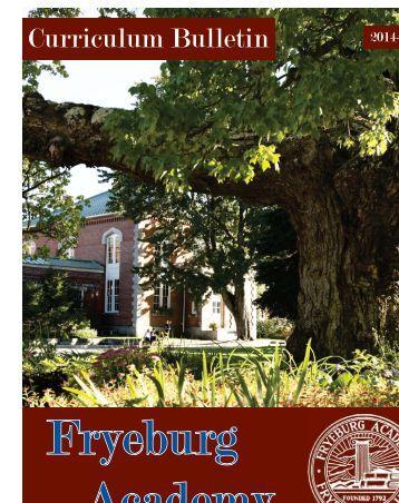 Curriculum Bulletin 2013-2014 - Fryeburg Academy