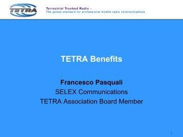 TETRA Benefits - Francesco Pasquali