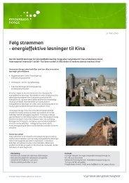 Følg strømmen - energieffektive løsninger til Kina - NEEC