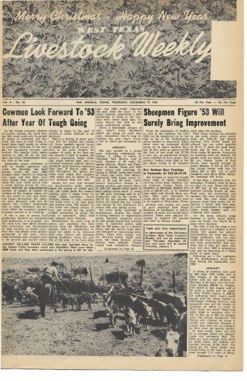 December 18, 1952 - Livestock Weekly!
