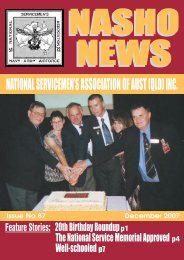 Issue 87 December 2007 - Nasho Front Page