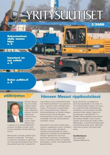 Hämeen Messut rippikouluiässä - Kehittämiskeskus Oy Häme