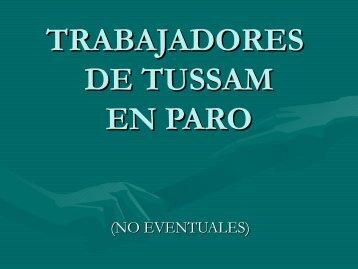 TRABAJADORES DE TUSSAM EN PARO - Rojo y Negro