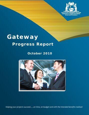 Gateway Progress Report - October 2010 - Department of Finance