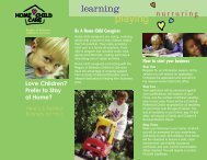 Home Child Care Caregiver brochure - Social Services - Region of ...