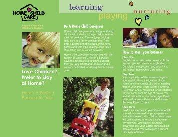 Home Child Care Caregiver brochure - Social Services - Region of ...