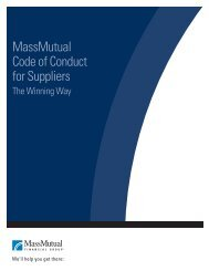 Supplier Code of Conduct - MassMutual