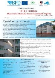 projektas BIBLIOREG - Šiaulių universiteto biblioteka