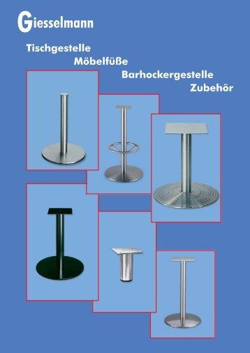 Giesselmann Tischgestelle - Franz Giesselmann Metallwaren GmbH ...