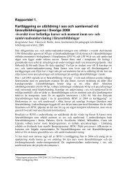 Rapportdel 1. Kartläggning av utbildning i sex och samlevnad vid ...