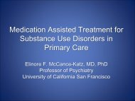 Medication Assisted Treatment for Substance Use ... - PCSS-O